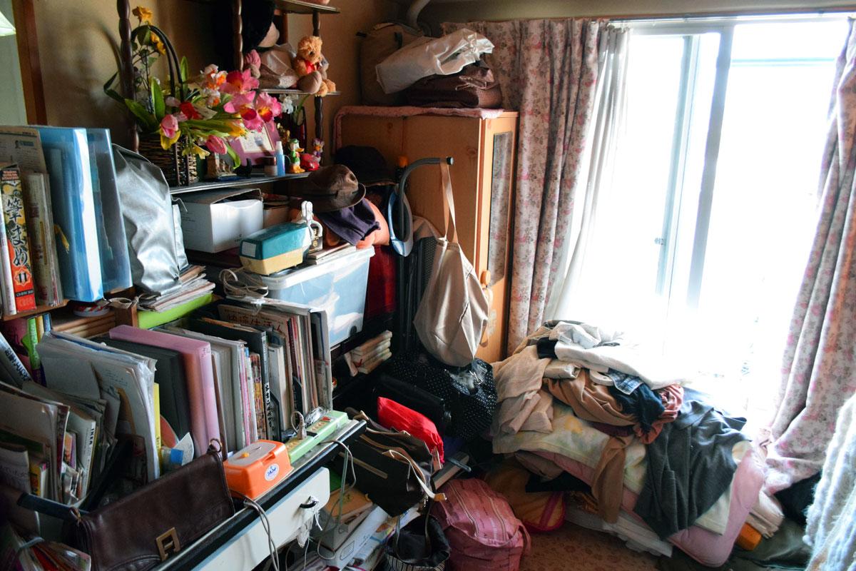 実家の整理について、片付いていない部屋