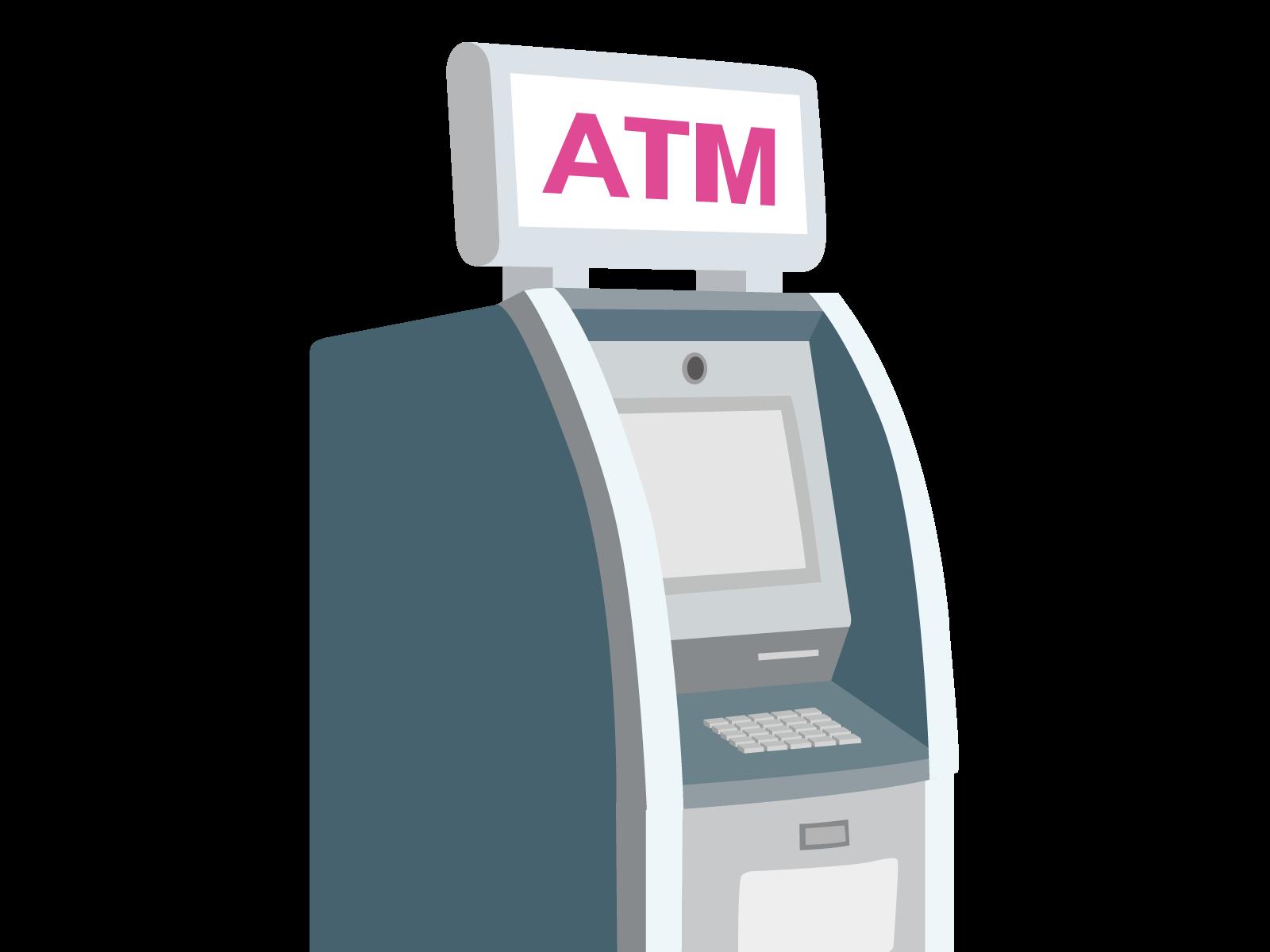 銀行ATMのイラスト