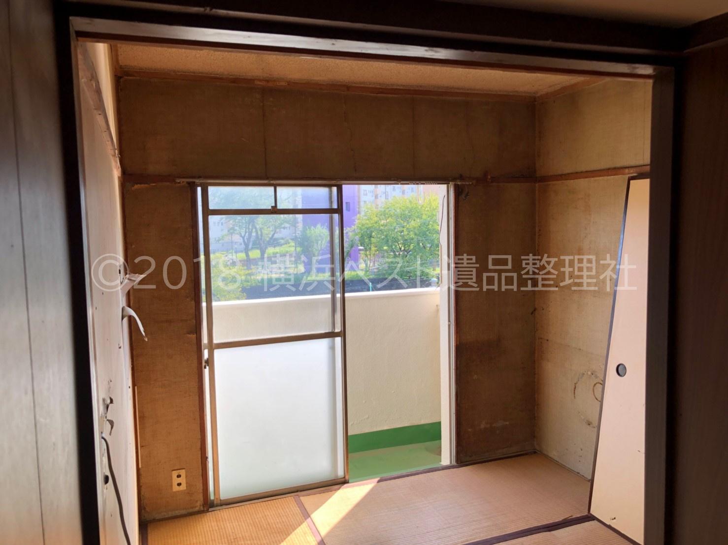 横浜ベスト遺品整理社の遺品整理:横浜市西区(2019年1月)の作業後