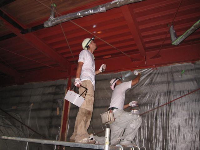 港北区倉庫塗装