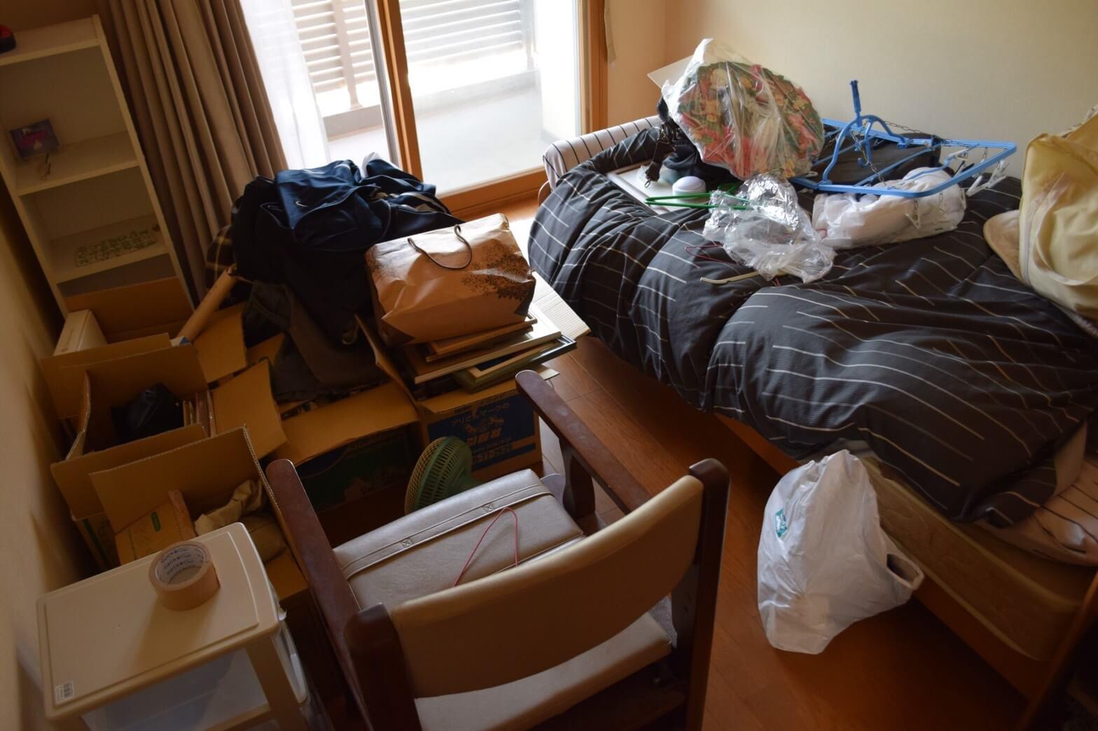 施工前のお部屋は比較的スッキリしていた。