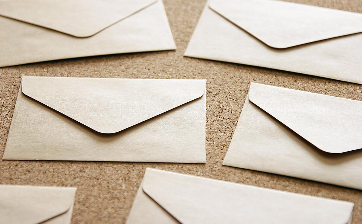 メールの封筒の画像