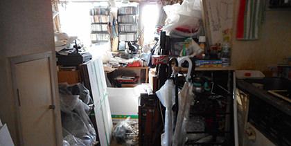 遺品整理前の部屋の様子